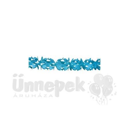 Kék Dekorációs Parti Papír Füzér - 6 m