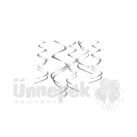 Ezüst Spirális Függő Dekoráció - 5 db-os, 60 cm