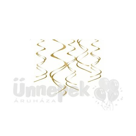 Arany Spirális Függő Dekoráció - 5 db-os, 60 cm