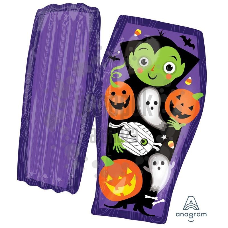 Drakula Koporsóban Super Shape Fólia Lufi Halloween-re