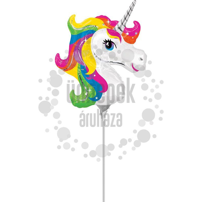 Rainbow Unicorn - Egyszarvú Mini Shape Fólia Lufi