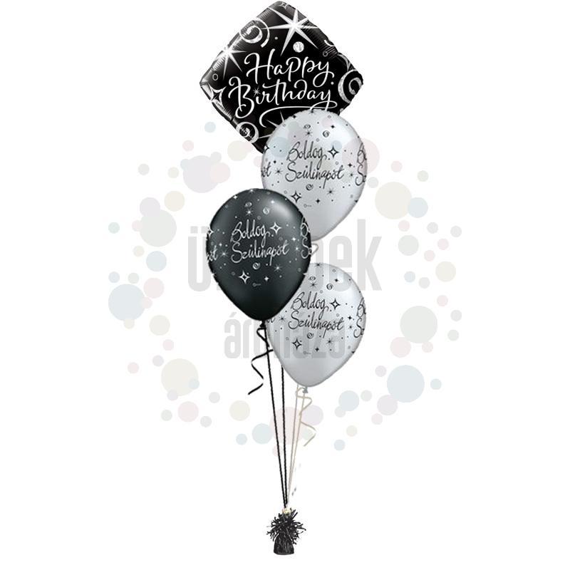 Elegáns Születésnap -  Léggömbcsokor születésnapra