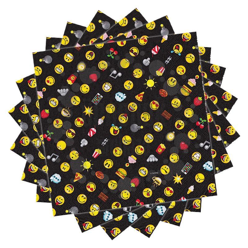 Smiley Emoticons Parti Szalvéta - 33 cm x 33 cm, 20 db-os