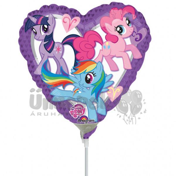 9 inch-es My Little Pony Heart Szív Fólia Mini Shape Lufi