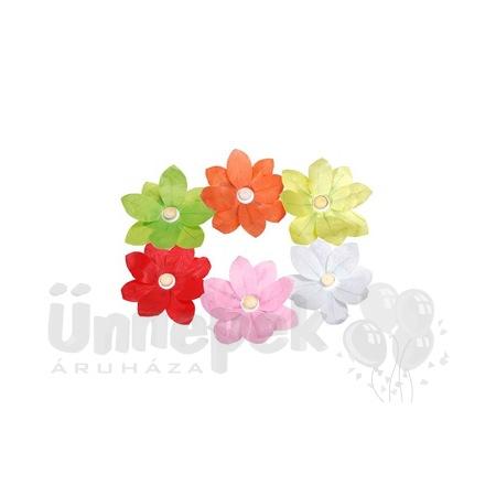 Virág Alakú Úszó Lámpás Vegyes Színekben Mécsessel - 6 db-os