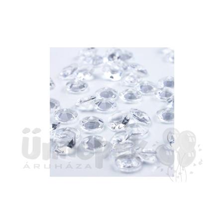 Áttetsző Gyémánt Alakú Kristály hatású Dekorkő - 100 db-os