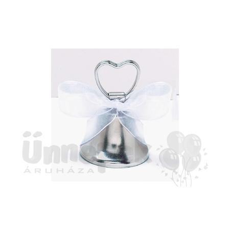 Esküvői Ezüst Harang Ültetőkártya-tartó