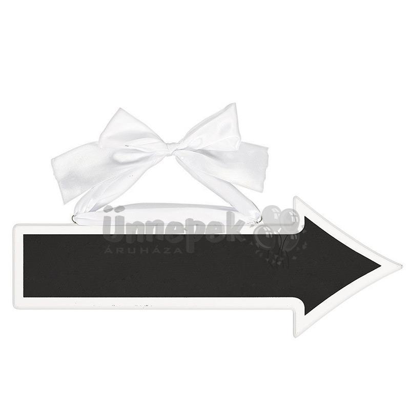 Feliratozható Nyíl Alakú Kréta Tábla Esküvőre, 41 cm x 15 cm