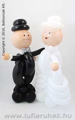 Ifjú Pár Esküvői Lufi Ajándék és Dekoráció