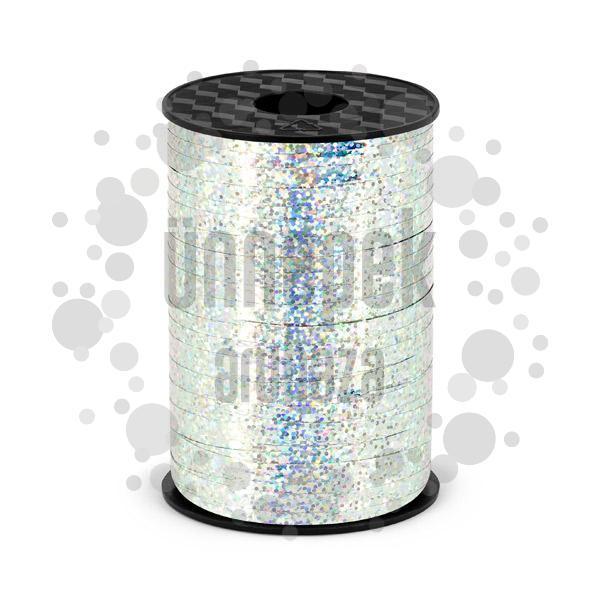 Ezüst Holografikus - Csillogó Virágkötöző Szalag - 225 m