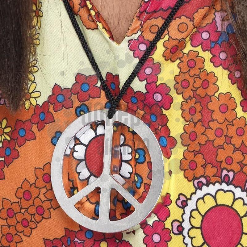 Ezüst Peace Békejeles Hippi Medál