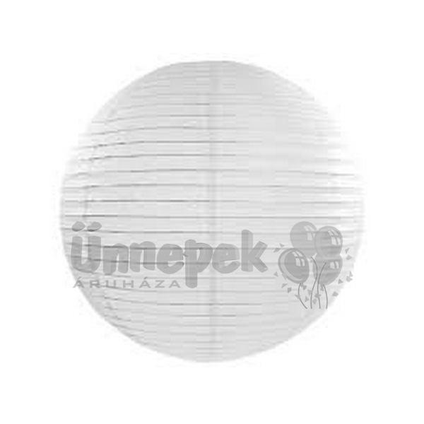 Fehér Parti Gömb Lampion - 35 cm