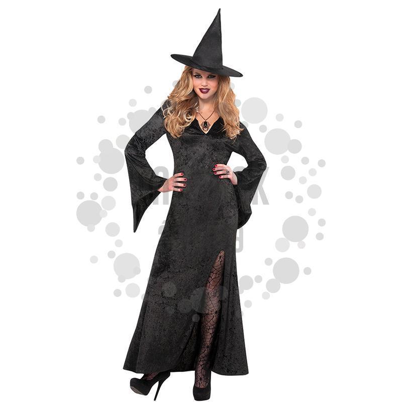 Fekete Női Boszorkány Jelmez Halloween-re