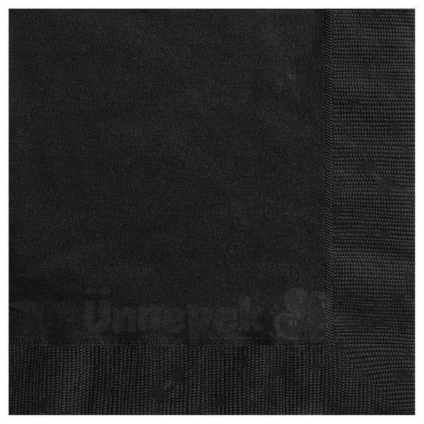 Black Papír Parti Szalvéta - 33 cm x 33 cm, 20 db-os