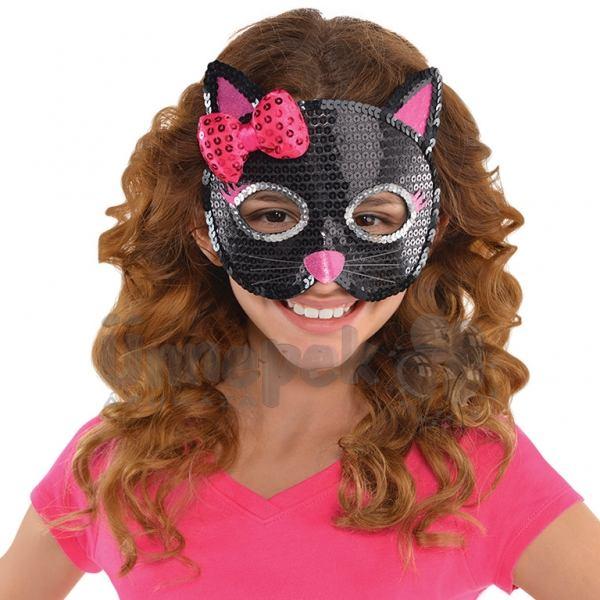 Fekete-Pink Macska Álarc