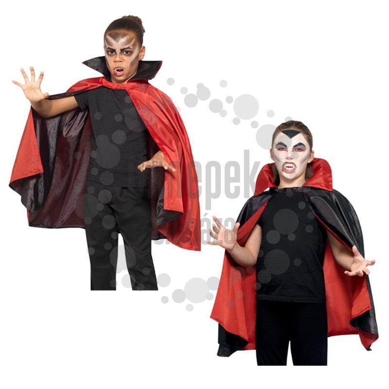 Fekete-Piros Kifordítható Vámpír Köpeny, Gyerekeknek