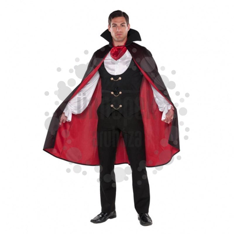 Fekete Piros Vámpír Jelmez Halloween-re, L-es