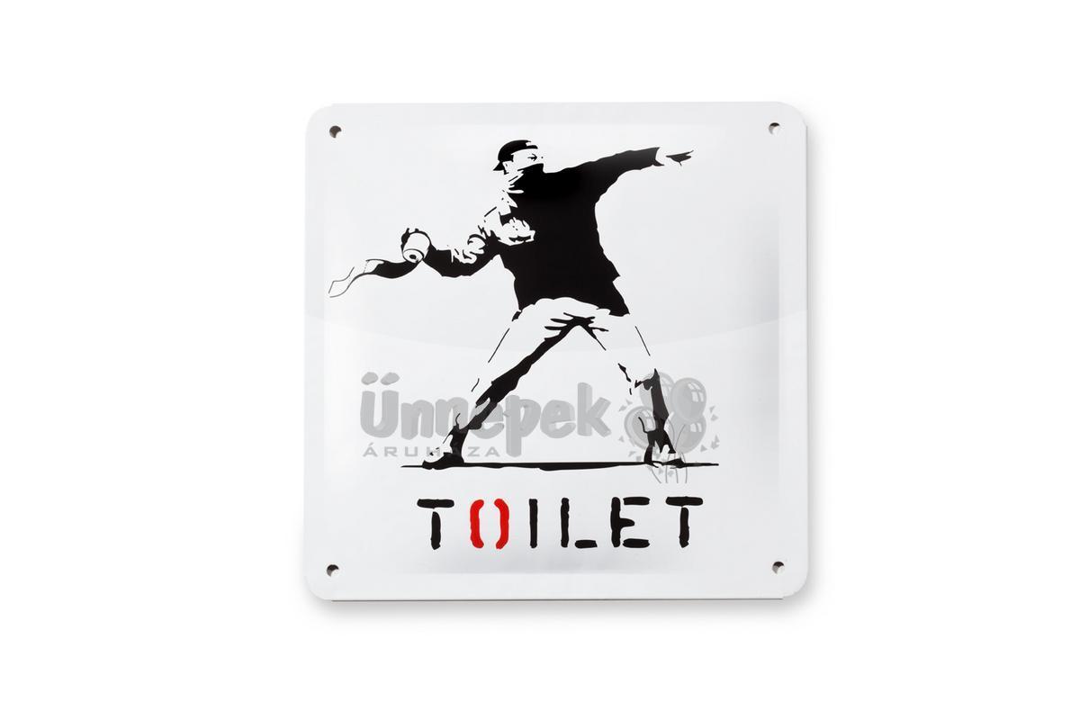 WC Fémtábla