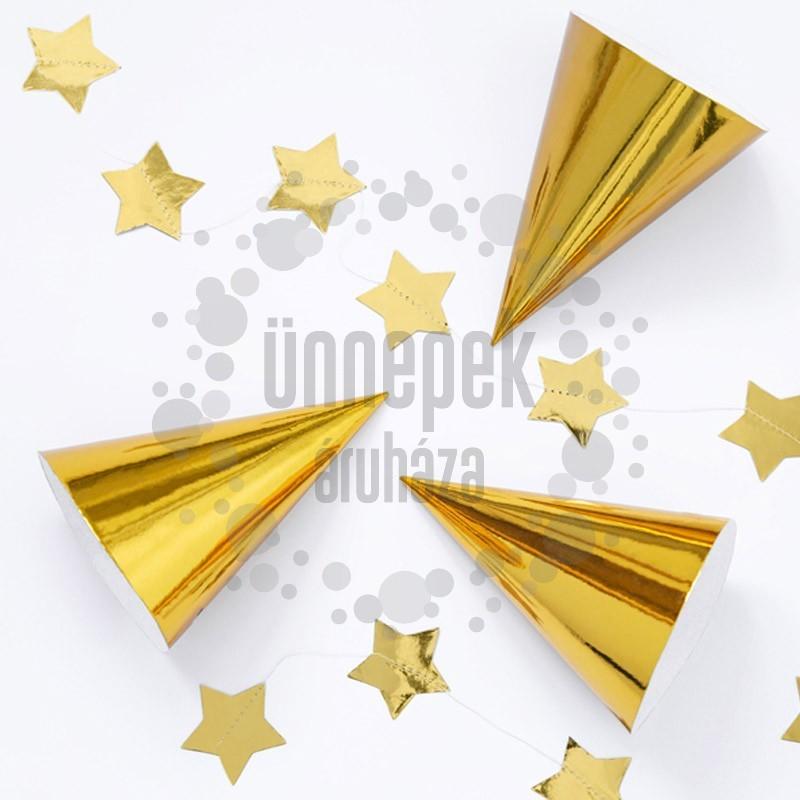 Fényes Arany Parti Csákó - 6 db-os