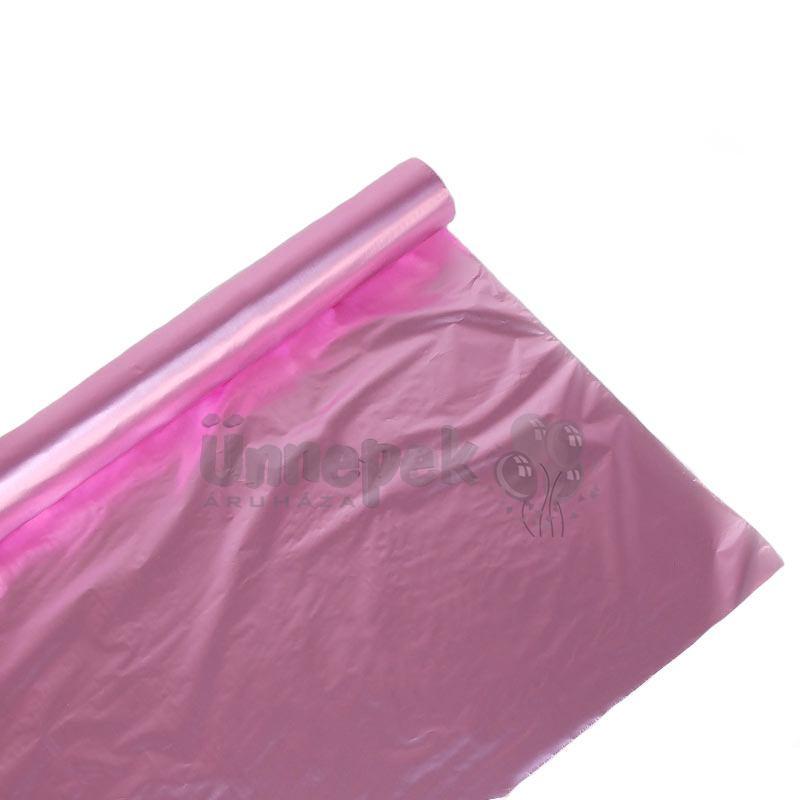Metál Fényes Rózsaszín Színű Fólia Csomagoló - 1 m x 20 m 6b4e0574ec