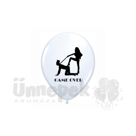 11 inch-es Game Over Felirattal White Lufi (6 db/csomag)