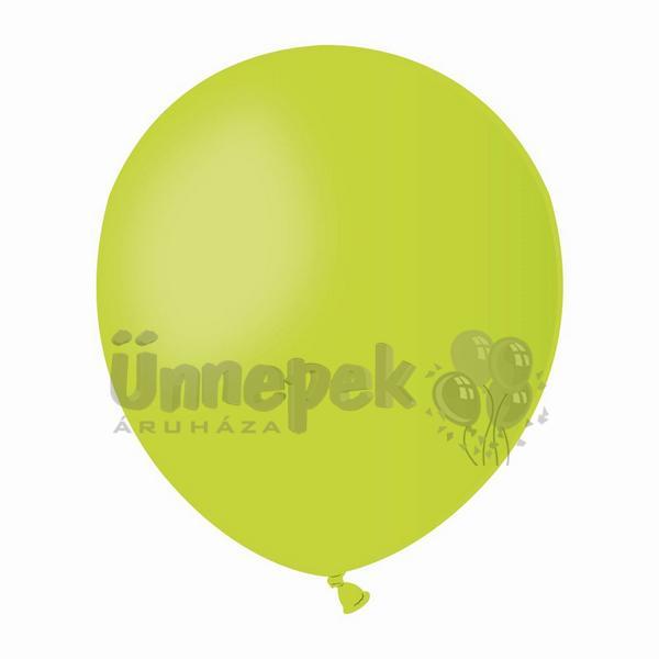 5 inch-es Gelatex Pastel Lime Green - Lime Zöld Kerek Lufi (100 db/csomag)