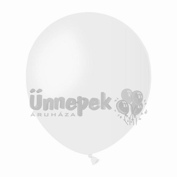 5 inch-es Gelatex Pastel White - Fehér Kerek Lufi (100 db/csomag)