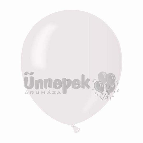 5 inch-es Gelatex Pearl White - Gyöngyház Fehér Kerek Lufi (100 db/csomag)
