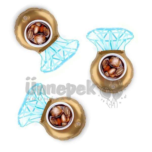 Gyémántgyűrű Úszógumi Italtartó - 3 db