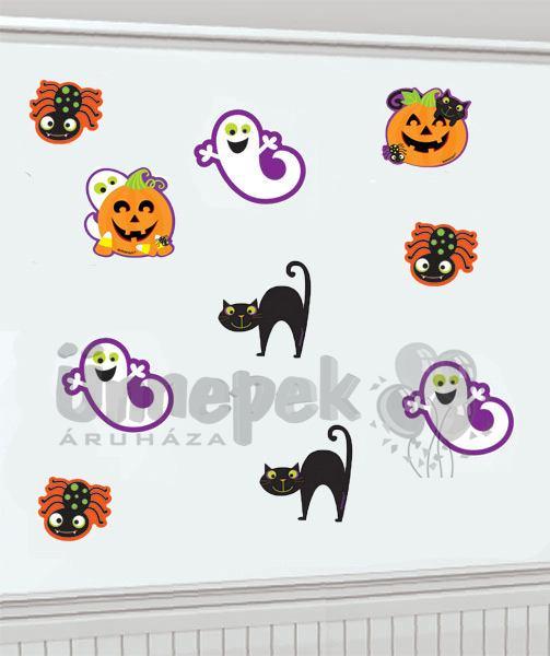 Halloween Karton Figurák, 10 db-os