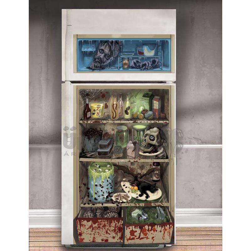Rémisztő Halloween Mintás Hűtőszekrény Dekoráció - 85 cm x 165 cm