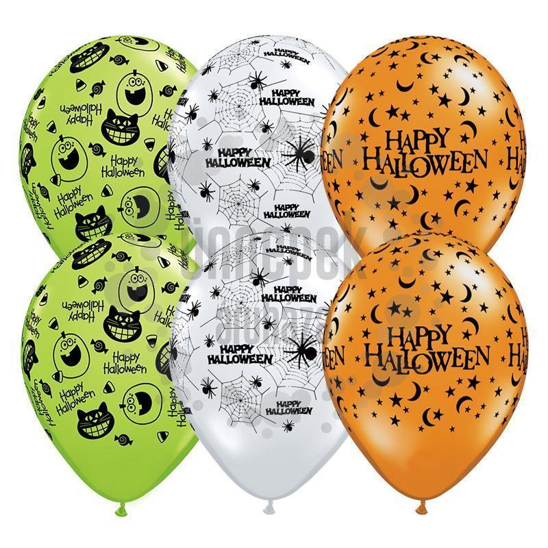11 inch-es Halloween Assortment Lufi (25 db/csomag)