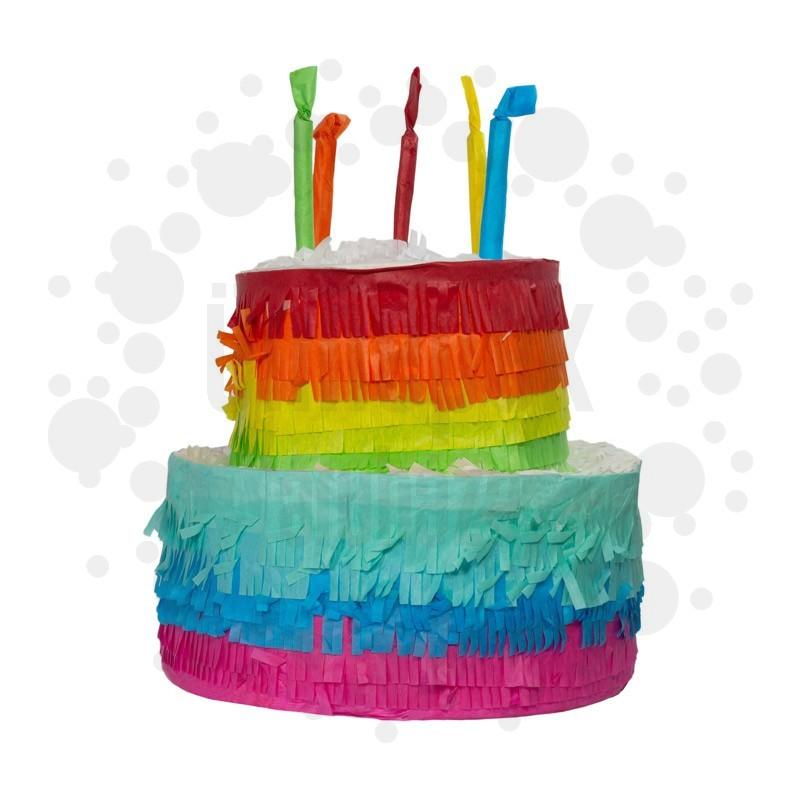 Happy Birthday Színes Torta Alakú Pinata Parti Játék