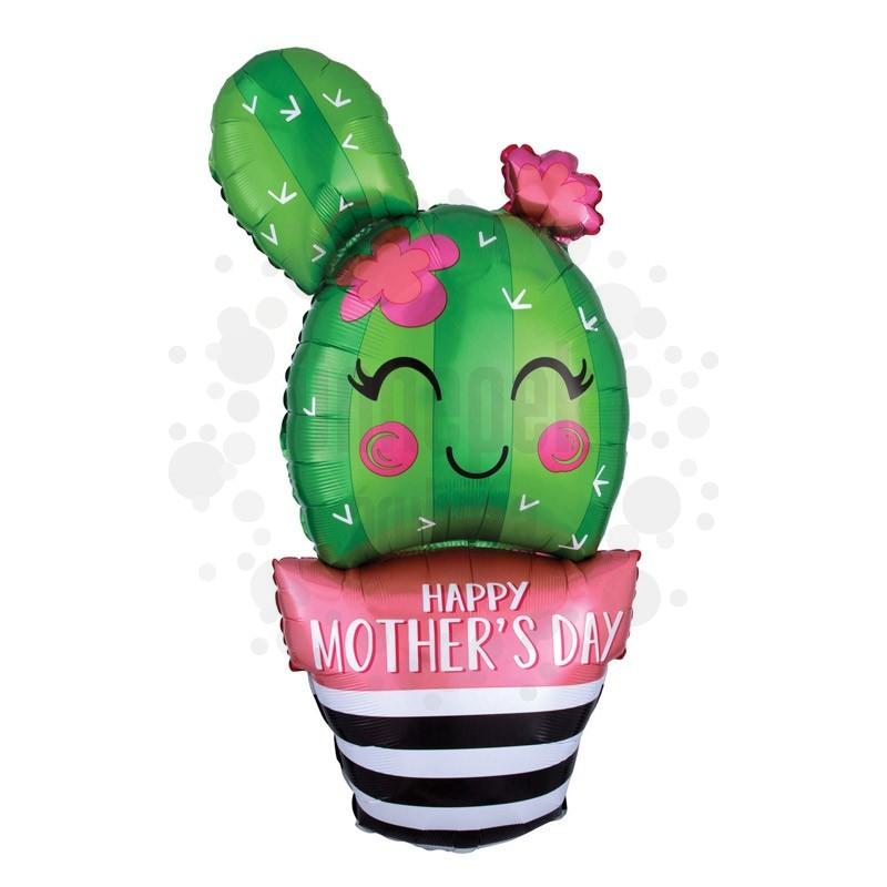 Kaktusz - Happy Mother's Day Cactus Super Shape Anyák-napi Fólia Lufi