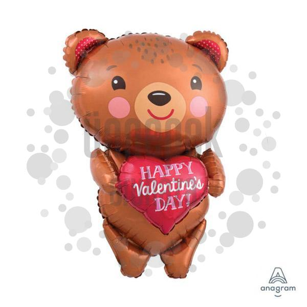 Happy Valentine Day Bear Super Shape Lufi