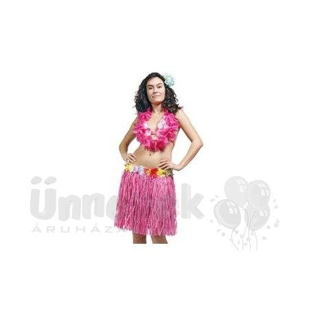 Hawaii Parti Rózsaszín Fűszoknya - 45 cm