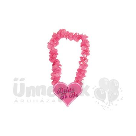 Bride to be Feliratú Pink Hawaii Parti Nyakfüzér Lánybúcsúra