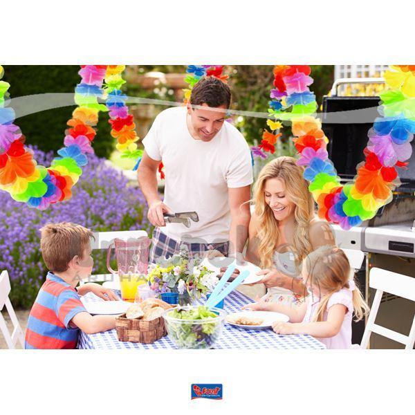 Hawaii Parti Színes Virágfüzér Dekoráció - 3 m