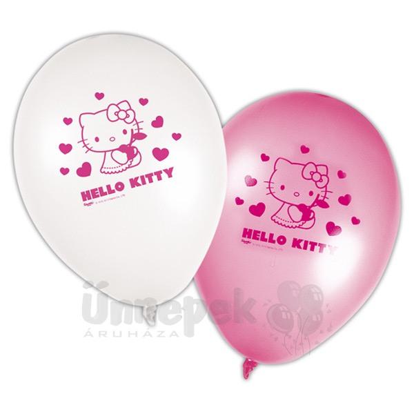 Hello Kitty Hearts - Szíves Parti Lufi - 8 db-os