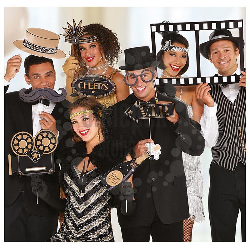 Hollywood Parti Kellékek Pálcán Fotózáshoz 12 db os