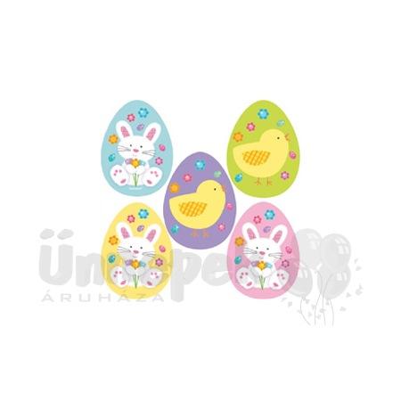 Easter Cutout Húsvéti Tojások Dekorációs Karton - 10 db-os