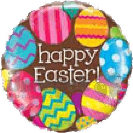 18 inch-es Easter Eggs & Chocolate Húsvéti Fólia Lufi