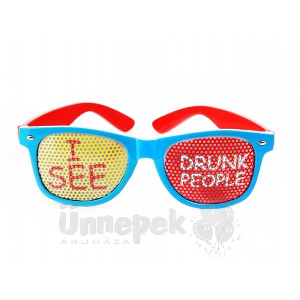 Piros-Kék - I See Drunk People - Feliratos Parti Szemüveg 0817f88228