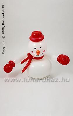 Snowman Téli Lufi Dekoráció