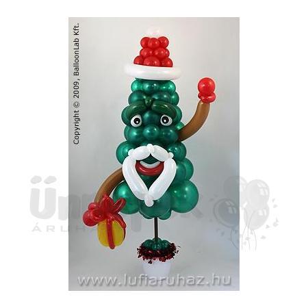 Christmas Tree with Gift Karácsonyi Lufi Dekoráció