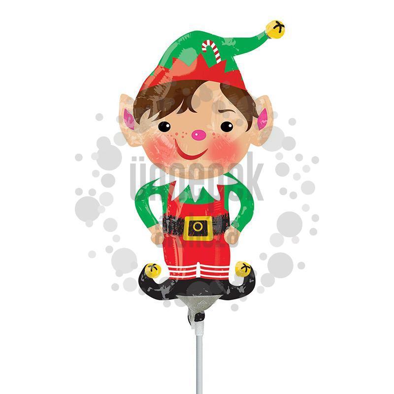 Jolly Christmas Elf Karácsonyi Manó Mini Shape Fólia Lufi