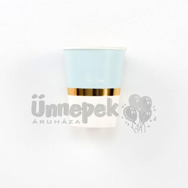 Kék 1st Birthday - Első Szülinapi Parti Pohár - 8 db-os, 250 ml