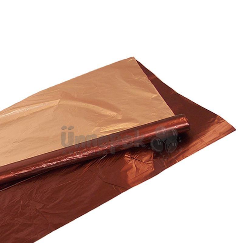 Kétszínű (Barna - Réz) Metál Fényes Fólia Csomagoló - 1 m x 20 m 867f7533df