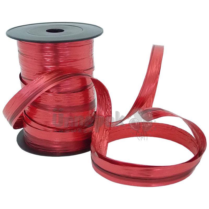 Kétszínű (Piros - Bordó) Metál Fényes Díszítő Fólia Szalag - 50 m