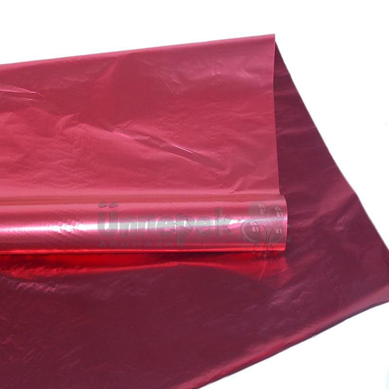 Kétszínű (Piros - Bordó) Metál Fényes Fólia Csomagoló - 1 m x 20 m f7d4888daf